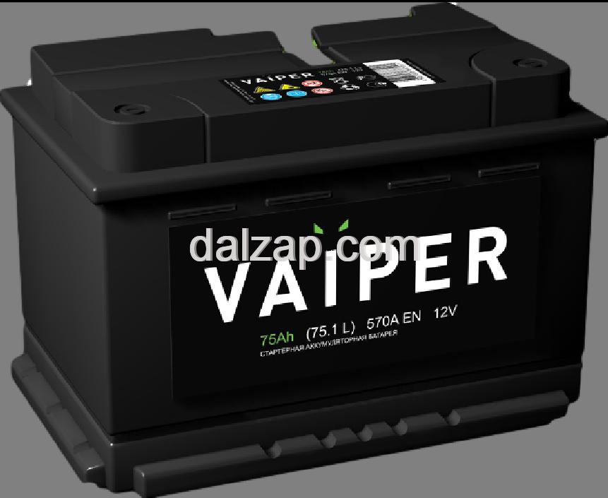 [6ст-75 правый] Аккумулятор VAIPER 6ст-75